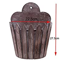 AFMGD Retro American Wooden Frame Hanging Flower Basket Pot Creative Fence-type Home Garden Balcony Metope Wall Murals Home Bar Decor 2
