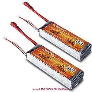 2X Floureon 40C 7.4V 6200mAh 2S Lipo Batterie Deans Plug pour RC Hélicoptère RC Avion RC Hobby
