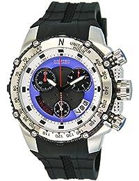 No limit Nautec Herren-reloj cronógrafo de cuarzo acero inoxidable Typhoon Maax TY-MX-QZ-STSTBKBL-WH