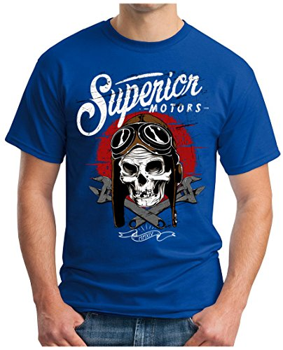 OM3 - Superior-MOTORS - T-Shirt GEEK, S - 5XL Royalblau