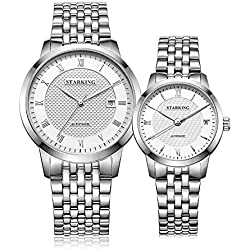 STARKING Men and Women Couple Lover Automatic Wristwatches # AM0187SS11_AL0187SS11