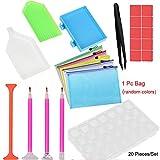 Vovotrade Home Diamant Malerei Werkzeuge Kit DIY Diamant Klebrige Stifte mit Diamant Stickerei Box, für Nagel Kunst und Diamant Stickerei, 20Stück Werkzeug Set