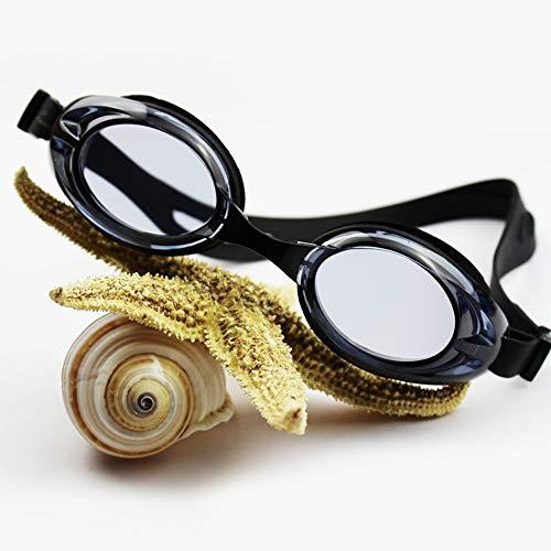 MRFENG Schwimmbrillen Erwachsene Kinder Schwimmbrille Wasserdicht Anti-Fog Hd Freizeitmode Männer Und Frauen Stil Brille Schwarz