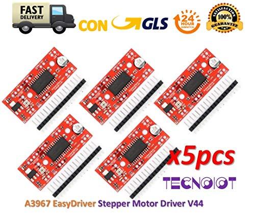 TECNOIOT 5pcs A3967 EasyDriver Stepper Motor Driver V44 Development Board