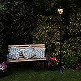 2,1m klassische Außen Solar Leuchte, schwarz, LEDs in warmweiß von Festive Lights