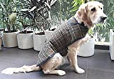 #2: PoochMate Olive Plaid Winter Coat Size 26 for Labrador | Golden Retriever | GSD