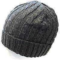warme Wintermütze Mütze Skimütze Strickmütze uni einfarbig