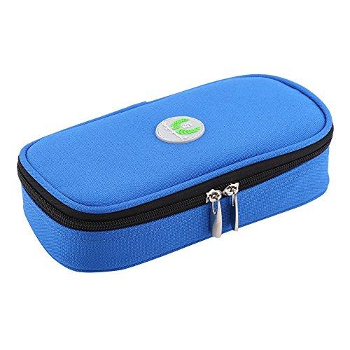 Zerodis Diabetikertasche diabetischer Insulin Kühler tragender Fall Taschen Organisator medizinischer Isolierkühlung Reise Kasten (Blau)