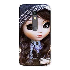Cute Sweet Angel Doll Multicolor Back Case Cover for Moto X Play