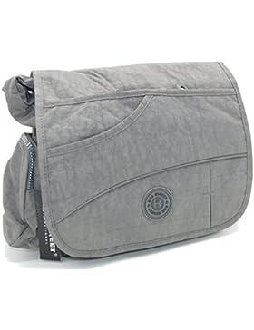 J2222 wasserabweisende Damen Tasche Schultertasche Umhängetasche Stofftasche verschiedene Farben --präsentiert...