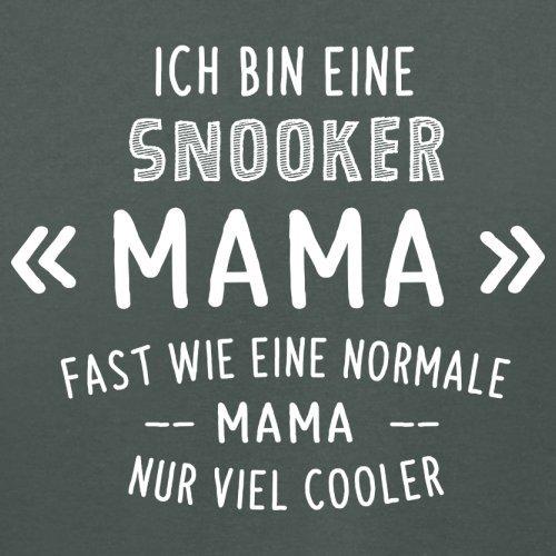 Ich bin eine Snooker Mama - Damen T-Shirt - 14 Farben Dunkelgrau