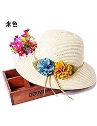 La versi¨®n coreana de flores de verano sombrero de paja Visor verano sombreros de sol playa manualmente la tapa
