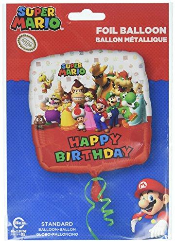 r Mario Bros Happy Birthday Folie Ballons ()
