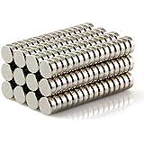 """Sunkee 100piezas/lot 5mm x 2mm super fuerte Ronda cilindro imanes de neodimio de tierras raras N35(1/5""""x 1/12"""")"""