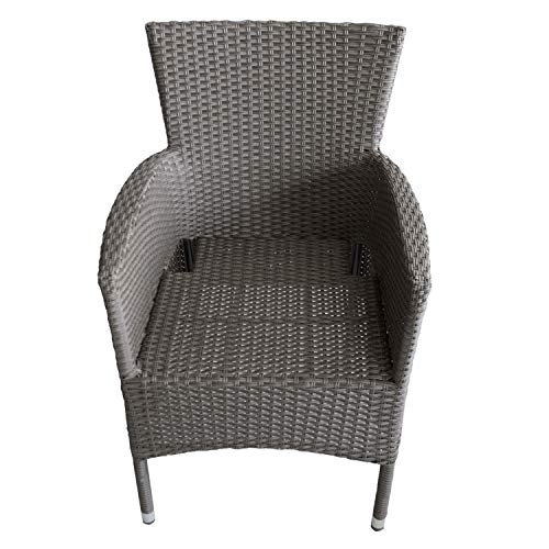 Polyrattan Sessel grau-meliert - 5