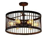 6X E27 Deckenleuchte Industrielampe Kreativ Vintage Retro Design Deckenlampe Loft Metall Vogelkäfig Lampenschirm Deckenstrahler Innen Hängelampe Leuchter Beleuchtung Schlafzimmer Esszimmerlampe Bar