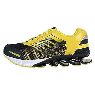Super Men/Boys Yellow-386 Sports Shoes (Running Shoes) (9 UK)
