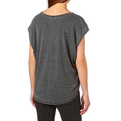 Damen T-Shirt Volcom Simply Solid Circle T-Shirt Black