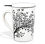 Tea Branch Thé Pour Une, Tasse avec Infuseur, Mug infuseur, Tea For One, Arbre noir...