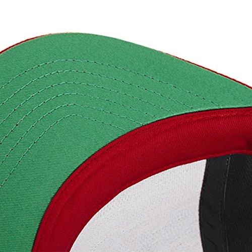 Beechfield - Casquette de Baseball -  Homme Multicolore - Noir/rouge