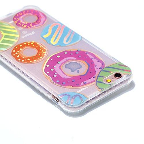 iPhone 6 Plus/6S Plus Coque, Voguecase TPU avec Absorption de Choc, Etui Silicone Souple Transparent, Légère / Ajustement Parfait Coque Shell Housse Cover pour Apple iPhone 6 Plus/6S Plus 5.5 (Placage Placage colorés-Donuts 11