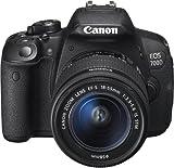 Canon EOS 700D Fotocamera Reflex Digitale, 18 Megapixel, Obiettivo EF-S 18-55 mm IS STM, Nero [Versione Canon Pass Italia]