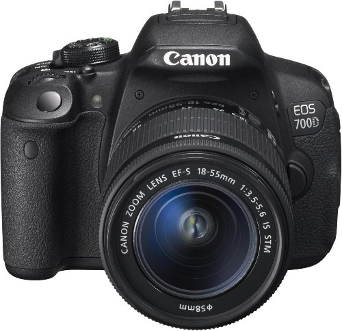 Canon digitale Spiegelreflexkamera EOS 700d + EF-S 18 – 55 IS STM, Schwarz – Canon-Version Pass Italien