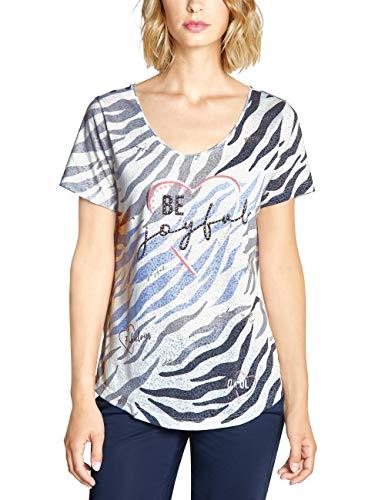 Street One Damen 313820 T-Shirt, Off White, Herstellergröße:40