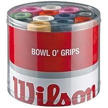 Wilson Z4710 Overgrip Bowl - Lote de bandas antideslizantes para raquetas de tenis (50 unidades), color verde, amarillo, lila, rosa, naranja, blanco y negro