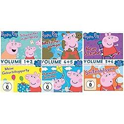 Peppa Pig -1+2+3+4+5+6- SET -6 DVDs- 62 Episoden