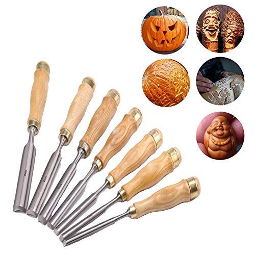 Holzschnitzwerkzeuge Messerset für Gummi, Kürbis, Seife, Gemüse und mehr für Kinder und Anfänger mit wiederverwendbarem Beutel