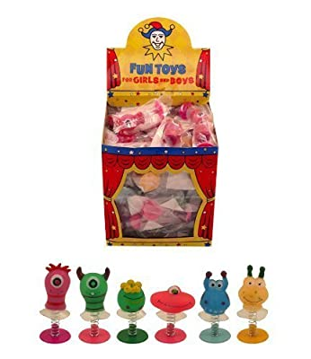 6 Assorted Jump Pop Up Monster Toys / Childrens Kids Party Bag Fillers Boys : everything £5 (or less!)