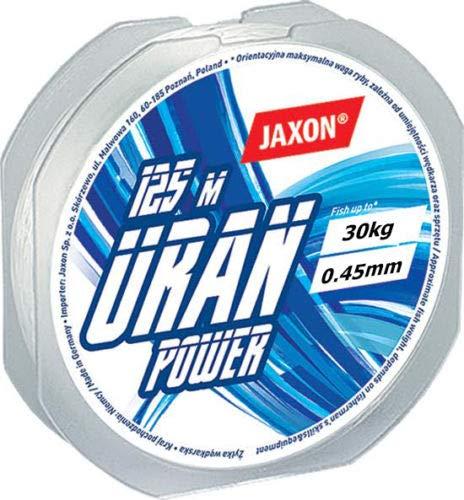 Jaxon Angelschnur Uran Power 125m / 0,12mm-0,45mm Spule Monofile (0,45mm / 30kg)