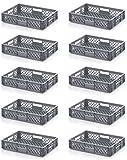 10x Bäckerkiste Cateringbox 60 x 40 x 12 durchbrochen inkl. gratis Zollstock 10er Set