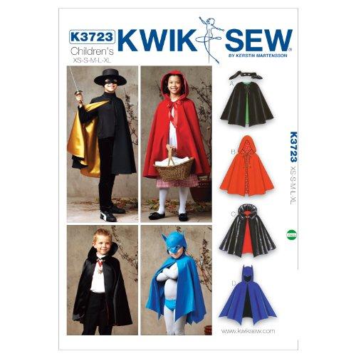 ik Sew Mustern K37234–5/Größe XS klein 6/mittel 7–8/L 10/XL 12–14Cape, weiß, 1Stück (Weiße Hexe Kostüm Muster)