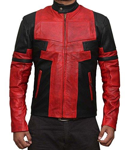 Ryan Reynolds Deadpool Jacket Kostüm (XXXL, Red and -
