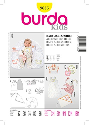 Burda Schnittmuster 9635 Baby Accessoires Gr. 19 x 13 cm 62-86 EU