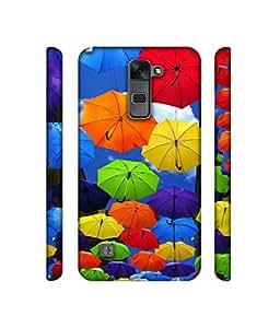 Casotec Colorful Umbrellas Design 3D Printed Hard Back Case Cover for LG Stylus 2