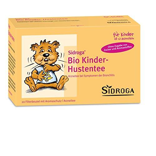Sidroga Bio Kinder-Hustentee - Arzneitee mit Heilpflanzen bei Erkältung und Bronchitis - 20 Filterbeutel à 1,5 g