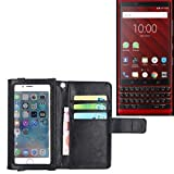 K-S-Trade® Wallet Case Flip Cover For Blackberry KEY2 Red