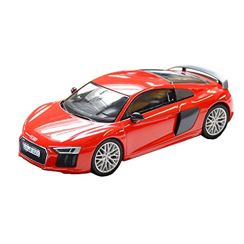 Audi5011518423 R8 Coupe - Coche en miniatura (escala 1:43), color rojo