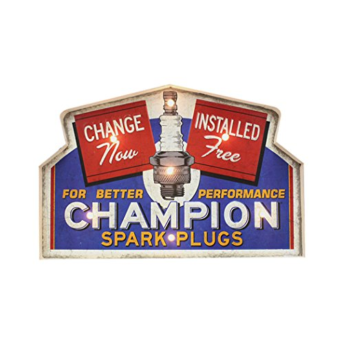 Insegna Luminosa in metallo Vintage CHAMPION