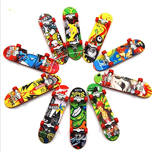 Ankamal Elec Mini-Griffbrett, 3-teiliges Set Professionelles Skateboard-Finger-Technologie-Decks-Ahorn-Set Anime Peripheral Model Finger Scooter (Anime Skateboard Deck)