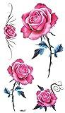 Spestyle wasserfest und ungiftig modische rote Rose Tattoo-Aufkleber für Frauen