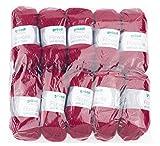 Gründl Uni, Vorteilspack: 10 Knäuel à 50 g Filzwolle, Wolle, Bordeaux, 31 x 32 x 7.5 cm
