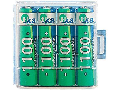 tka 1100mAh batterie NiMH AAA Micro 4pezzi + Batterie Box