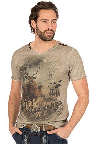 MarJo Trachten T-Shirt M69 - Berg Strawanza brau, 2XL