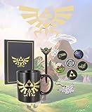 The Legend of Zelda – Geschenk Box mit Fan-Artikeln | Triforce Logo - Tasse, Notizbuch, Poster, Buttons, Kugelschreiber und Multitool