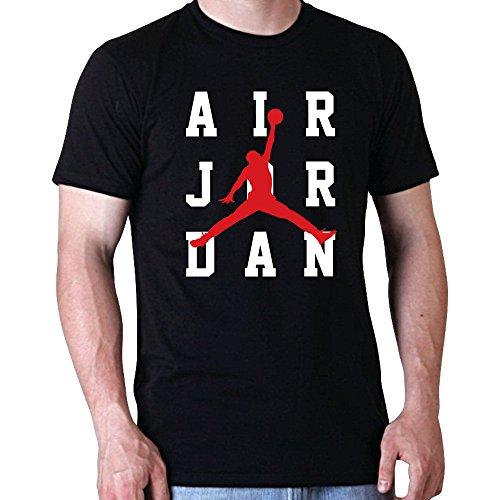 Beimpress t-shirt maglia air-jord-3-rig - replica - uomo donna unisex - bianca (12/14 anni, nero)