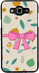 PrintVisa 2D-SGJ7-D7750 Girly Bow Case Cover for Samsung Galaxy J7 SM-J700F